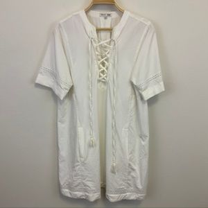 Madewell x Daryl K White Beverly lace-up dress M